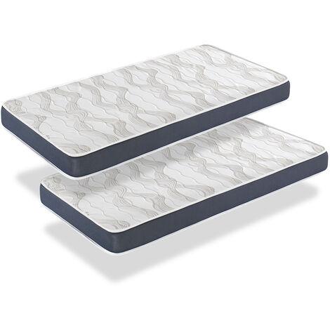 Colchon PACK 2 ERGO CONFORT 90x190 - ALTURA 14 CM - Acolchado super suave - Juvenil - ideal para camas nido - DORMALIT