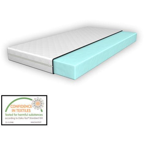 Colchón para niños - Espuma fría - 80 x 160 cm - Textil de confianza - certificado OEKO-TEX 100 - Hecho en UE
