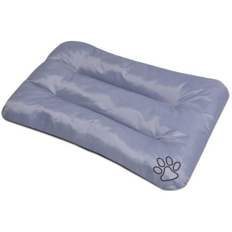 Colchón para perro tamaño L gris