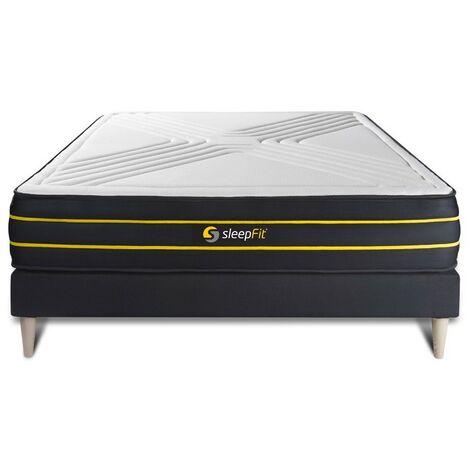 Colchón ULTRA 135x190cm, grosor : 26 cm, espuma viscoelástica y micromuelles ensacados , equilibrado, 7 zonas de confort + SOMI