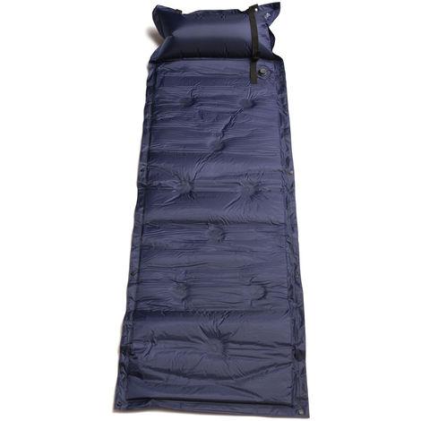 Colchoneta de camping autoinflable Rollo Alfombrilla Cojín Almohada Cama para dormir