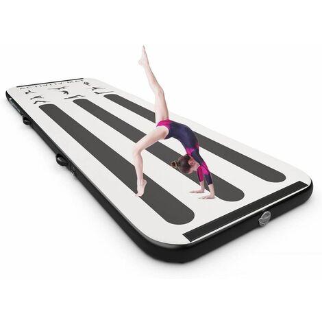 Colchoneta de Gimnasia de 300 cm con Bomba Eléctrica Colchoneta Inflable de Entrenamiento para Yoga con Bolsa de Transporte Multicolor
