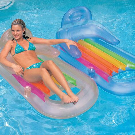 Colchoneta piscina hinchable 160x85cm plastico king kool intex 58802eu