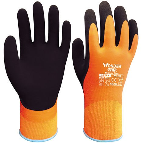 Cold-proof working gloves double-layer latex / 13-pin fully waterproof WG-338 XL
