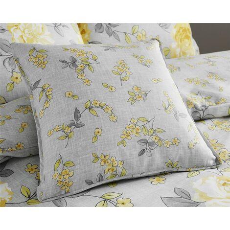 Colette Yellow Cushion Cover 45x45cm Square Bed/Sofa Accessory