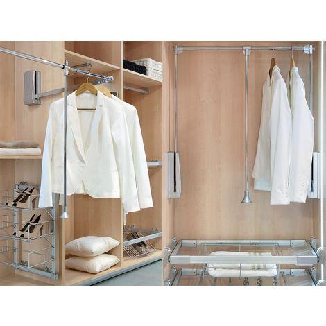 Colgador abatible para armario Hang 60-83 cm en acero cromado brillo | cromado brillante