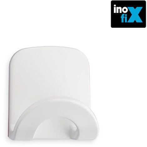 Colgador adhesivo arco blanco blister inofix