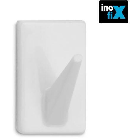 Colgador adhesivo clasico blanco blister 4 uni inofix