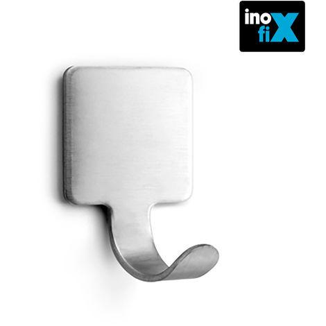 Colgador adhesivo gancho acero (blister 2 unid) inofix