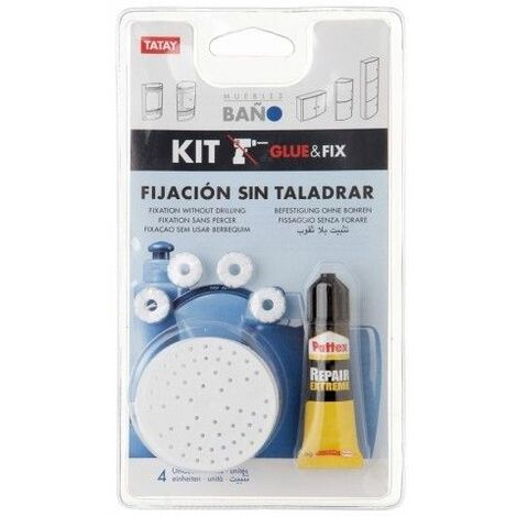 Colgador Baño Fijacion Adhesivo Armarios Fix Tatay