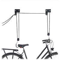 Colgador Bicicleta Techo, Metal, Negro, Hasta 45 kg