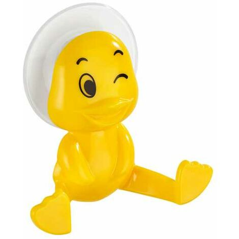 Colgador con ventosa pato amarillo