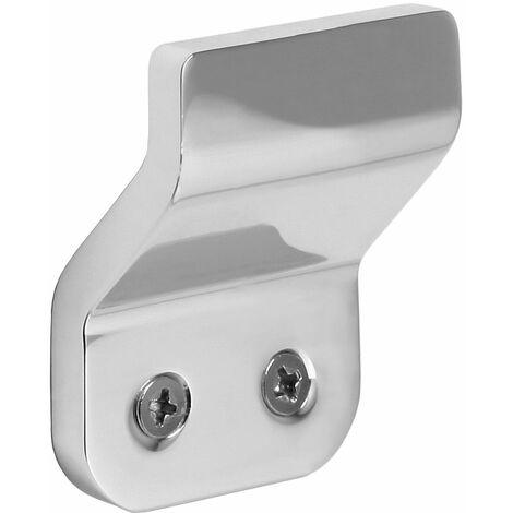 Colgador de aluminio minimalista TATAY. Doble sistema de fijación, tornillos y Glue&Fix (4x2,5x5,2 cm)