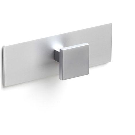 Colgador de pared moderno adhesivo con acabado cromo mate. dimensiones: 120x32x40 mm - talla