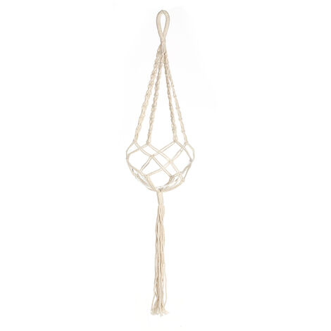 Colgador de planta de macrame, maceta para interior y exterior, maceta para colgar en la pared, cesta, cuerda de algodon