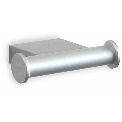 Colgador doble TATAY ICE, de aluminio mate. Sistema de fijación con tornillos