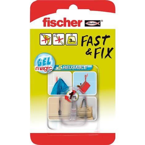 COLGADOR GANCHO 533609 FAST&FIX TRANS.BL
