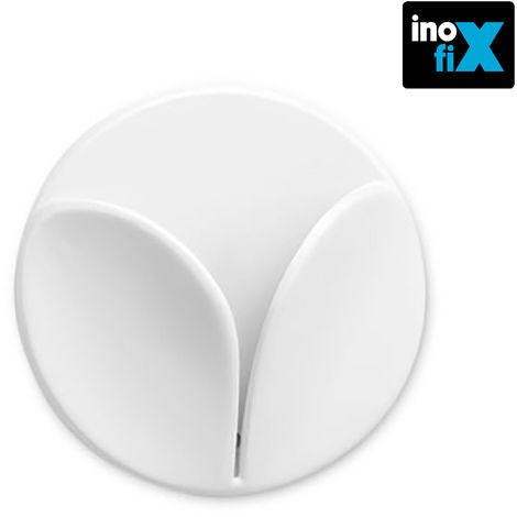 Colgador paños simple cocina adhesivo blanco (blister 2 unid) inofix