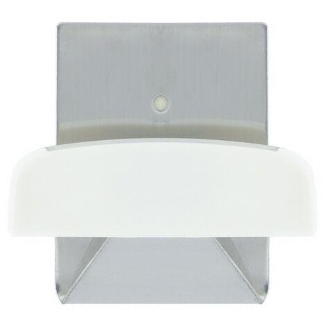 Colgador Percha Adhesivo Acero Inoxidable Color Metalizado / Blanco