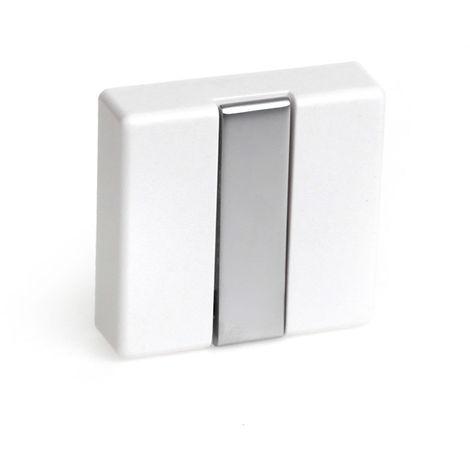 Colgador plegable moderno atornillable con acabado blanco. dimensiones: 74x20x71 mm - talla