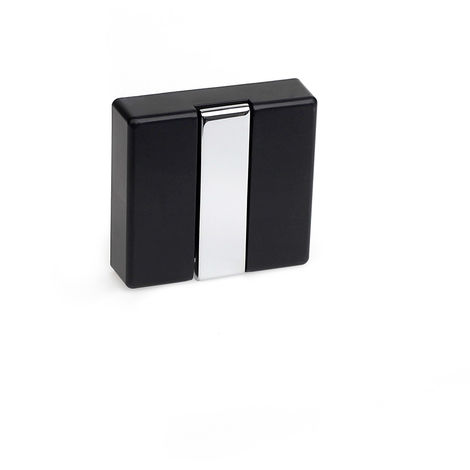 Colgador plegable moderno atornillable con acabado negro. dimensiones: 74x20x71 mm - talla