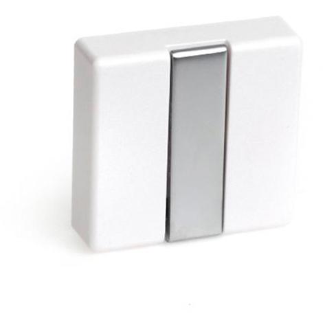 Colgador plegable moderno atornillable, fabricado en zamak, madera y plástico, con acabado blanco y 1 percha
