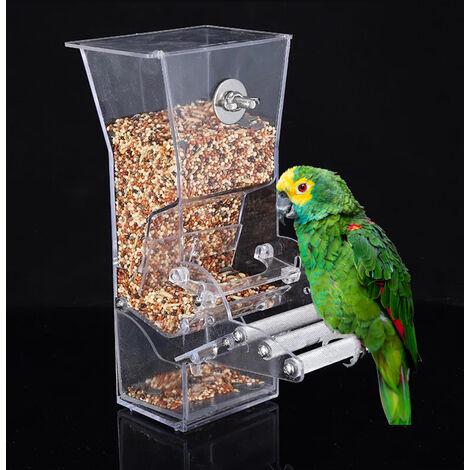 Colgando alimentador del pajaro de la jaula de pajaro alimentador RSS casa del pajaro que cuelga la caja del loro del alimentador del alimento del envase exterior Alimentacion Birdfeeders perca Jaula Accesorios