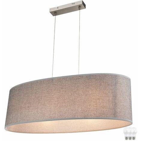 Colgando colgante Lámpara de tela sombra comedor iluminación EEK A + en el conjunto, incluyendo las lámparas LED
