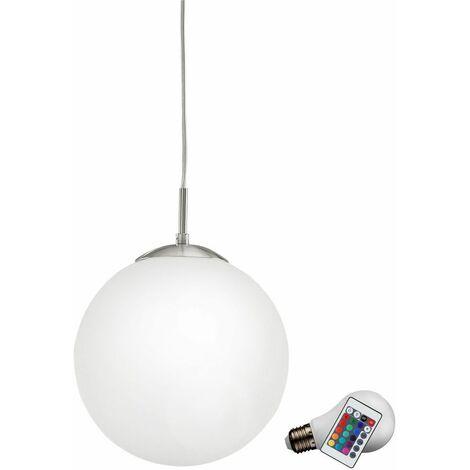 Colgando del techo de cristal lámpara de focos habitaciones de huéspedes reguladores de intensidad en el conjunto que incluye lámparas LED RGB