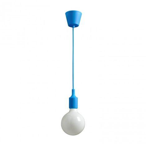 Colgante acrílico azul E27 100 cm