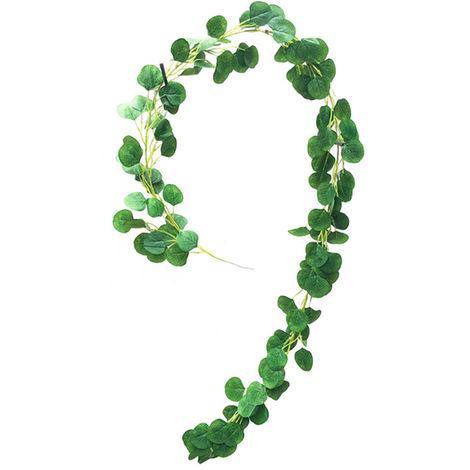 Colgante artificial Plantas hojas naturales artificiales, verde