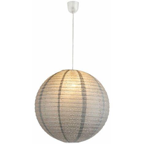 colgante de lujo lámpara colgante modelo de lámpara de decoración salón pantalla de tela gris E27 Globo 16913