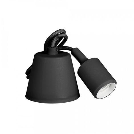 Colgante De Silicona E27 60W Negro (98.4 Cm) - NEOFERR