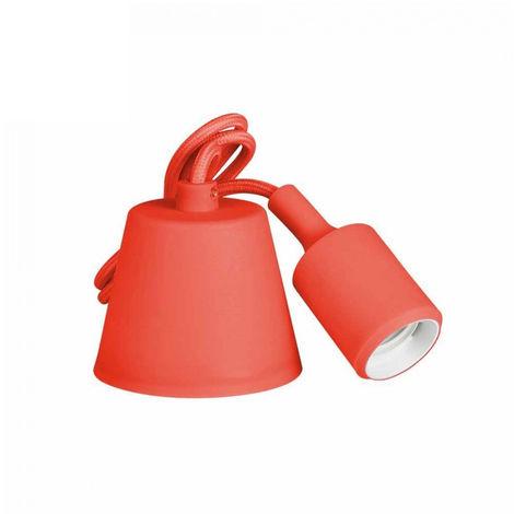 Colgante De Silicona E27 60W Rojo (98.4 Cm) - NEOFERR..