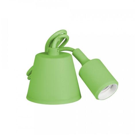 Colgante De Silicona E27 60W Verde (98.4 Cm) - NEOFERR..