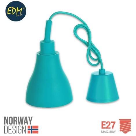 Colgante De Silicona Norway Design E27 60W Azul - NEOFERR