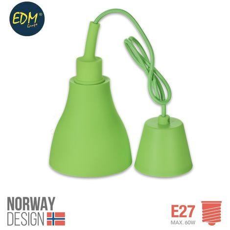 Colgante de silicona norway design E27 60w verde