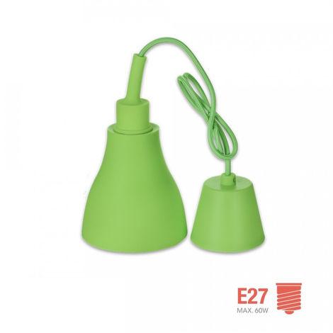 Colgante De Silicona Norway Design E27 60W Verde - NEOFERR