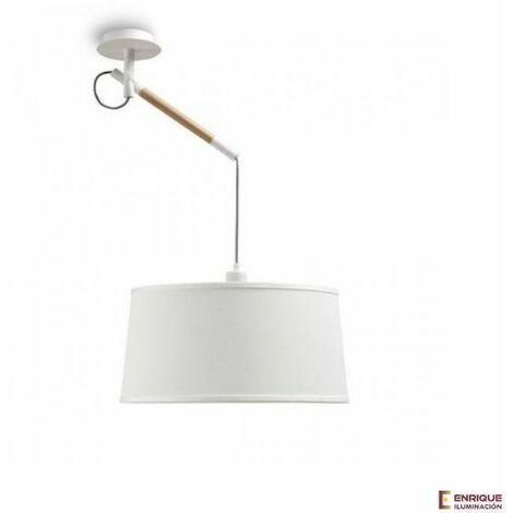 Colgante de techo nórdico blanco 1 luz