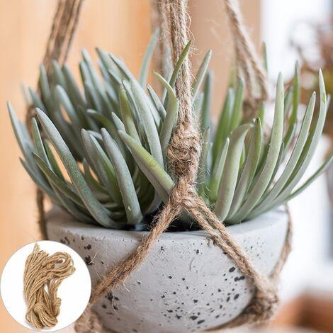 Colgante de yute trenzado hecho a mano Colgador de canasta de planta Soporte para maceta colgante 104cm Hasaki