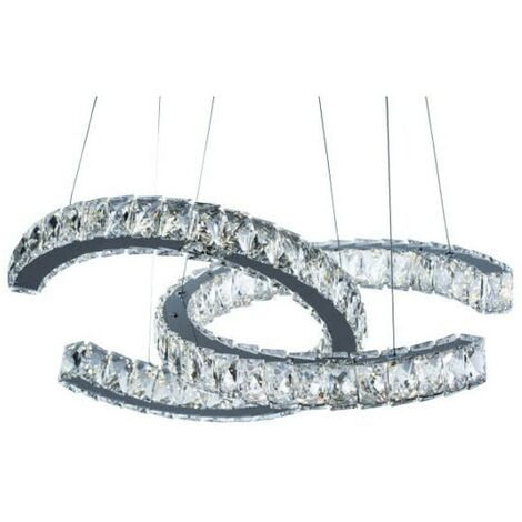 Colgante LED Argon cristal regulable 4000k 56W D60
