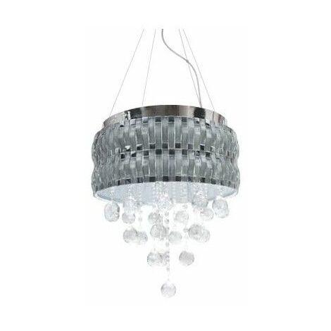 Colgante LED Lucerna cromo/cristal regulable 4000k 35W D40