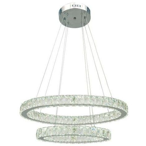 Colgante LED Radon cristal regulable 4000k 72W D60