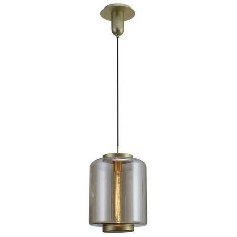 Colgante mediano acero y cristal JARRAS bronce