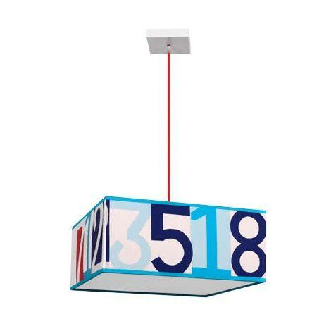 Colgante Numeros celeste regulable D35