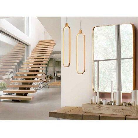 Colgante ovalo dorado COLETTE LED