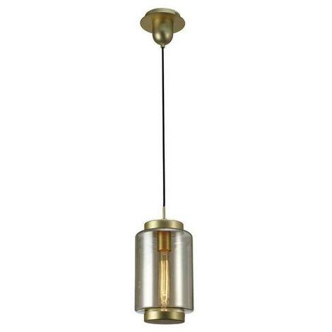 Colgante tubular en cristal JARRAS de Mantra en acabado bronce