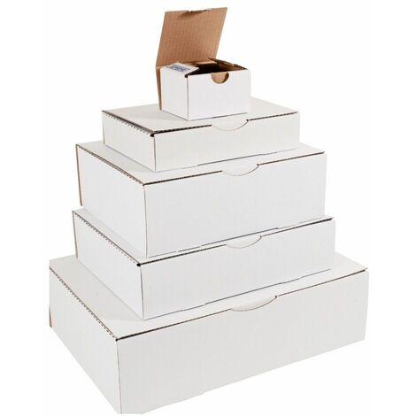 (COLIS 50 BOITES) Boîte postale blanche 215 x 155 x 100mm