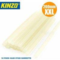 Colla a Caldo Set 16 Pezzi Adesiva Silicone Bianco 11 x 200 mm Kinzo Tubo Stick