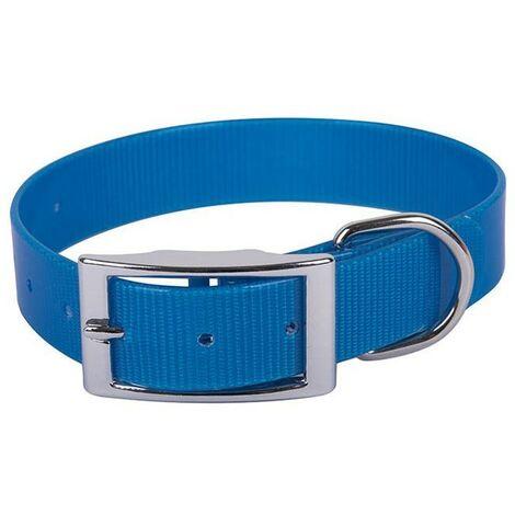 Colla Biothane para perro   Collar de perro azul 40 cms  Collar de perro resistente
